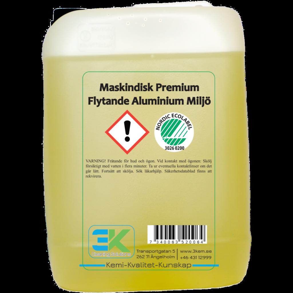 Maskindisk flytande aluminum